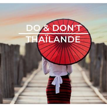 Do & don't Thailande